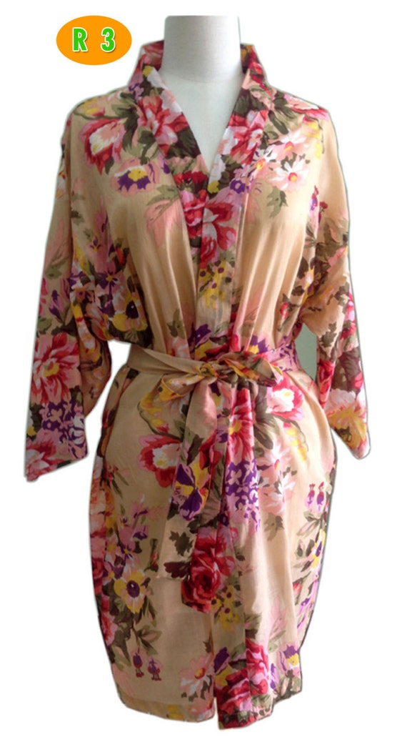 Set 6 PCS For lovely Bride Kimono robe bridesmaids tiffany and blooms maid of honor spa robe beach cover up