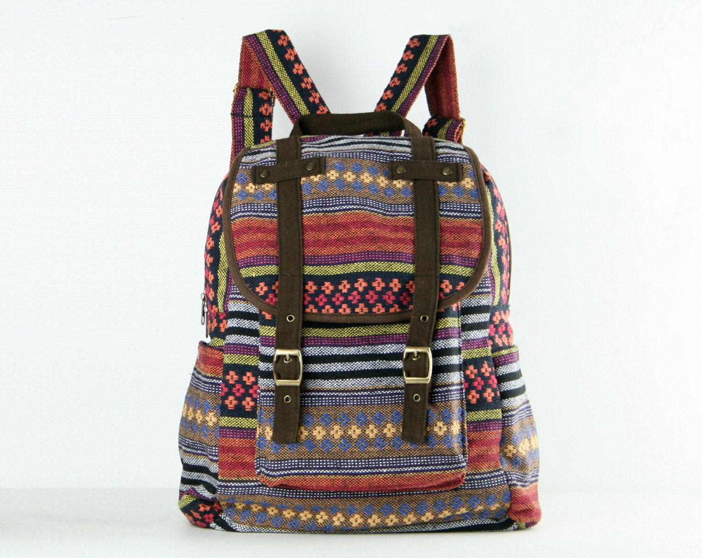 Tribal Rucksack Backpack Men Women Gypsy Boho Hippie American
