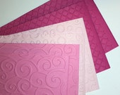 Greeting Notes ~ 6 cards~ 3 Shades of Pink ~ Blank Inside, Waiting for you message!