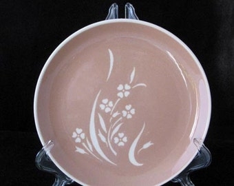 Harkerware Harker Pottery Springtime Salad Plate Vintage 1950s Mid Century Dinnerware