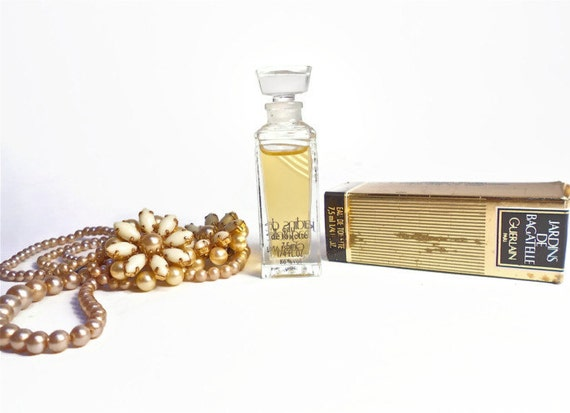 Items similar to guerlain vintage perfume 1980s bottle for Jardin glass jars