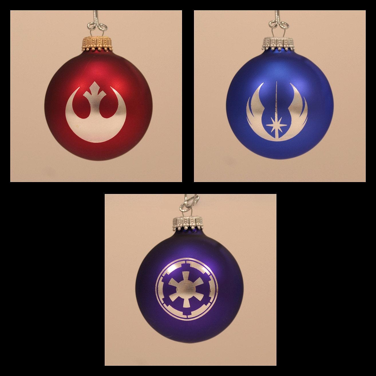 Star Wars Laser Engraved Christmas Ornaments Set Of 3