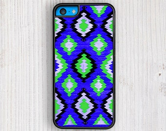 Blue Green Navajo Pattern iPhone 5C Case, Navajo iPhone 5 Case, Ethnic Navajo iPhone 5S Case, Ethnic iPhone 4 Case, Tribal iPhone 4S