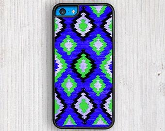 Blue Green Navajo Pattern iPhone 5C Case, Navajo iPhone 5 Case, Ethnic Navajo iPhone 5S Case, Ethnic iPhone 4 Case, Tribal iPhone 4S