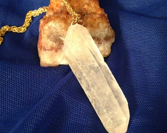Quartz Crystal necklace, Raw Crystal Necklace, Quartz Crystal Point Necklace, Crystal necklace,Raw crystal quartz, Crystal Pendant