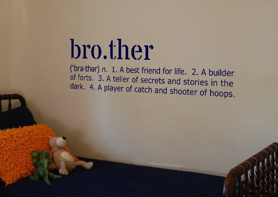 Definition Of Wall Decoration : Brother definition vinyl wall art decal by