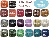 50 Yards-3 Ply Waxed Irish Linen Cord/ Thread-20 Colors Options