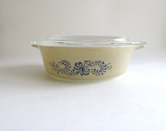 On Sale! New Year Discount Pyrex 471 1 PT Homestead Cinderella Bake Serve Store Casserole Dish with Lid 500 ml