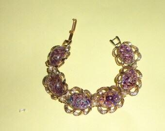 Vintage purple CONFETTI  bracelet*