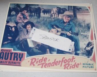 8x10 Press Photo Gene autry ride tenderfoot ride