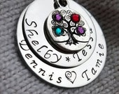 Personalized Mother's Necklace Tree of Life Personalized Family Tree Necklace Personalized Mother's Day Gift