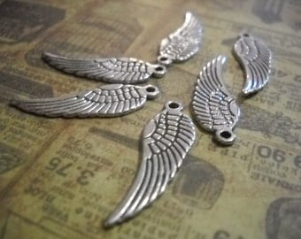 Angel Wing Charms Antiqued Silver Wing Pendants Angel Wings BULK Charms Wholesale Charms 2 Sided 30mm 600 pieces PREORDER