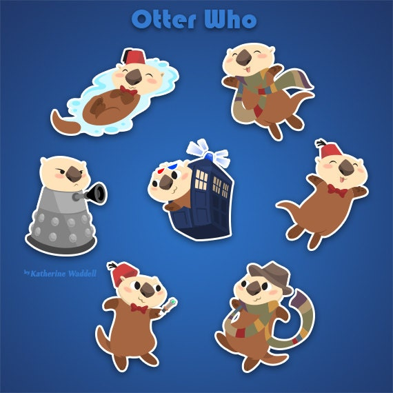 Doctor Who Sea Otter Sticker Pack