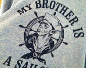 Vintage, 1970s Ringer TShirt: My Brother Is A Sailer
