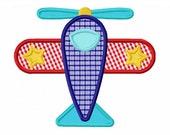 Instant Download Airplane Applique Machine Embroidery Design NO:1352