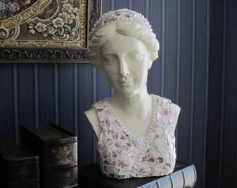 Grecian Bust with Royal Staffordshire English China Mosaic
