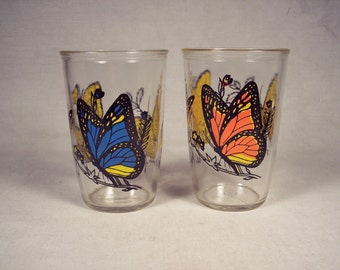 Butterfly Glasses Butterflies 1970s Penn Maid Sour Cream