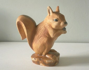 Vintage Chalkware Squirrel Figurine