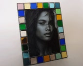 5 X 7 picture frame - stained glass - vertical or horizontal