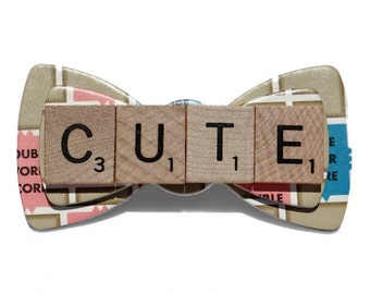 Customized Word Scrabble  Bow Tie (Toddler/Youth/Adult)