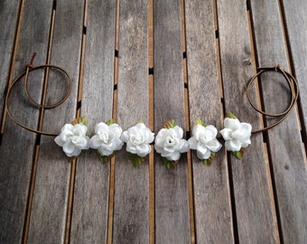 Baby Rose Flower Crowns on leather lace - Garden of Eden Collection 2014