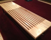 Solid Maple Topped 2/3rds Slat Table