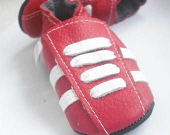 soft sole baby shoes leather infant sport red white 12 18 m  ebooba SP-29-R-M-3