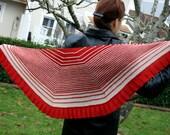 Striped Shawl Knitting Pattern PDF, Shawl Flower Flakes, Easy striped shawl, Digital PDF file download