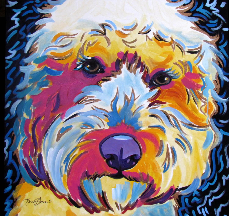 Labradoodle Goldendoodle Dog Art Pop Art Modern Dog