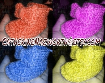 Crochet Baby Booties, Baby Ankle Boots, Crochet Booties, Baby Shoes, Handmade