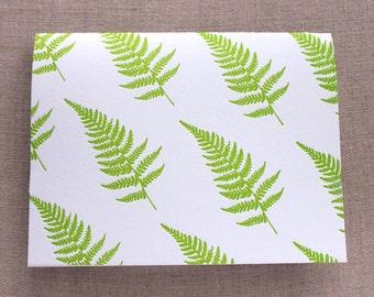Ferns Letterpress Card Set