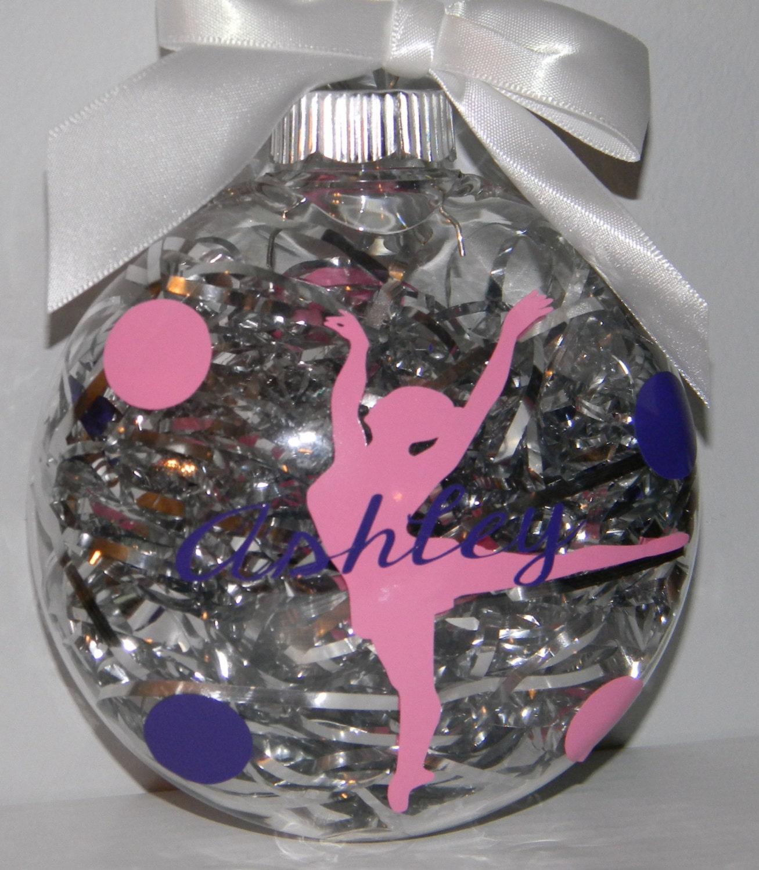 Personalized Ornament Christams Dance Ballerina Team Teacher