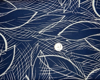Cream Palms on Navy by Dear Stella - Fabric By The Yard