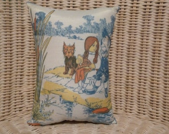 """Wizard of Oz 10"""" x 8.5"""" Pillow print from 1900"""