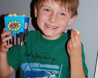 Superhero Popcorn Boxes • Printed