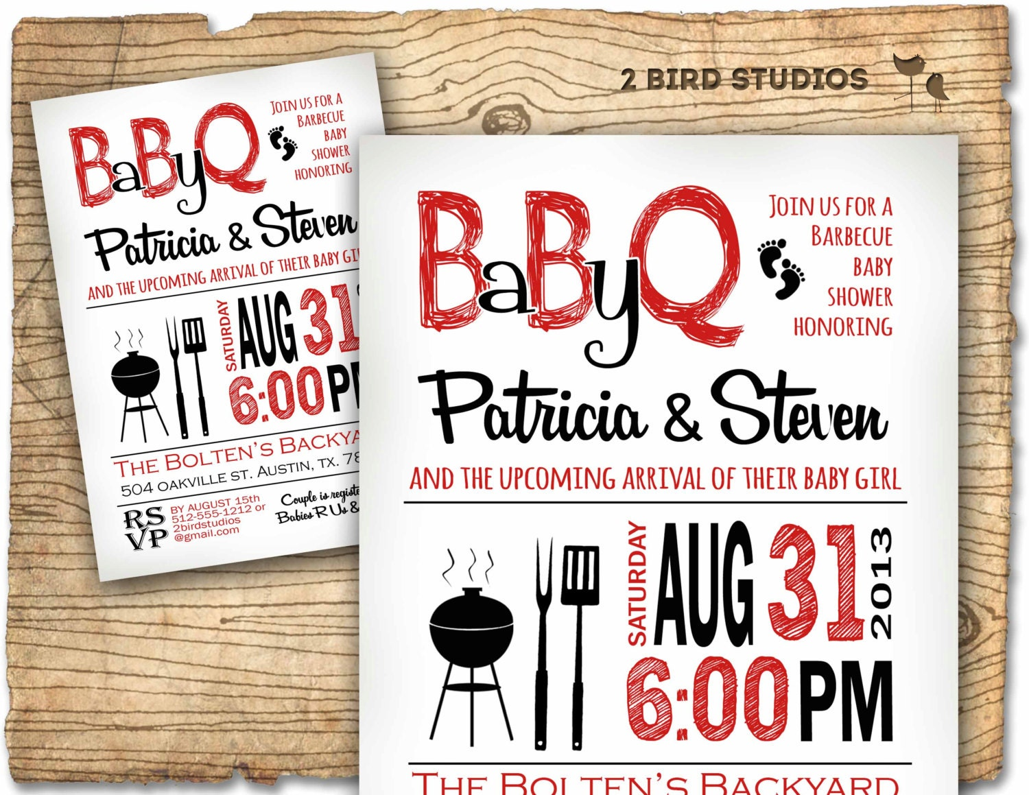 Baby shower invitation boy baby shower bbq barbecue invite for Baby shower bbq decoration ideas