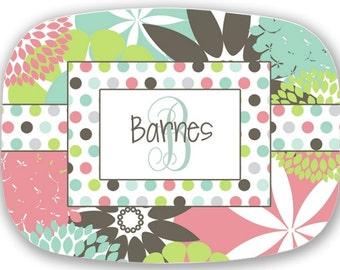 Personalized BPA free Platter (Married Monogram, Wedding gift, hostess gift, housewarming gift)