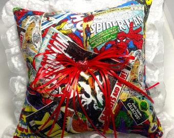 Custom Comic book prom or wedding Ring Bearer Pillow