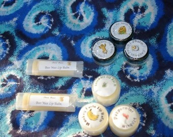 Natural Lip Balm made with beeswax