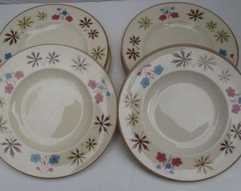 Franciscan China - Larkspur Pattern - Gladding McBean - 4 Bread & Butter Plates