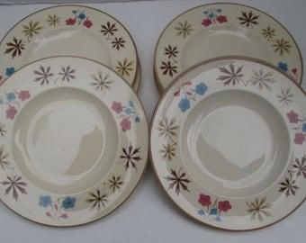 Franciscan China - Larkspur Pattern - Gladding McBean - 4 Bread & Butter Plates