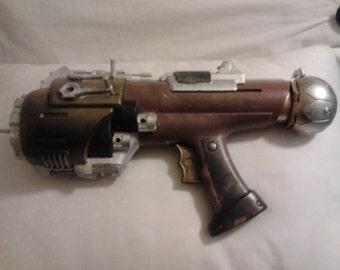 Steam punk Victorian gothic  gun -- The Minser Global Terror SMG cosplay prop gun
