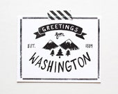 State of Washington Postcard, Screenprinted