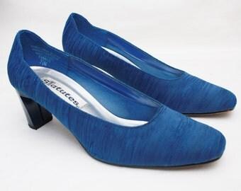 """80's Vintage """"STATUTES"""" Royal Blue Fancy Heels Sz: 7.5 (Women's Exclusive)"""