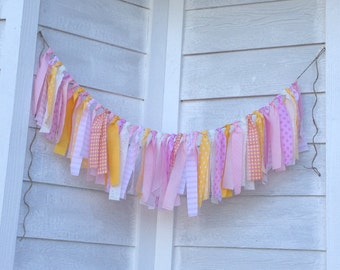 Fabric Garland - Pink Lemonade - Rag Tie Garland