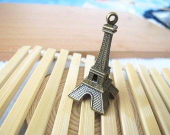 5pcs 22x47mm Antique Bronze Lovely 3D Eiffel Tower Charm Pendant Jewelry Supplies A1016-20B