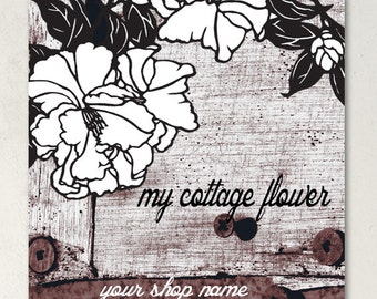 ETSY SHOP BANNERS My Cottage Flower Etsy Banner Set