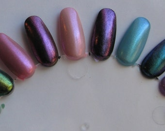 Bespell Duochrome Shimmer Top Coat Set Effect Nail Lacquer Indie 15mL Starlight and Sparkles Polish