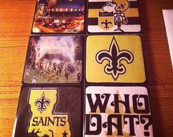 New Orleans Saints Ceramic Coasters