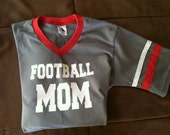 Football Mom Personalized Custom Jersey T-shirt